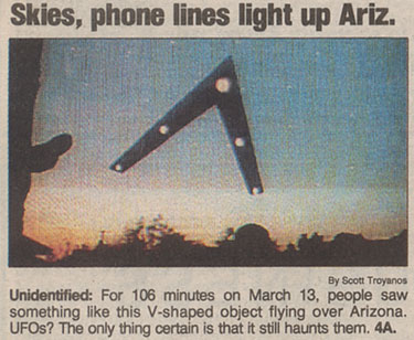 Original Phoenix Lights – UFO footage 3|13|1997